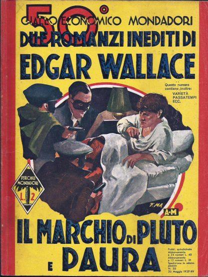 Edgar Wallace, Il Marchio Di Pluto / Paura- Coleção Giallo Itália 1937