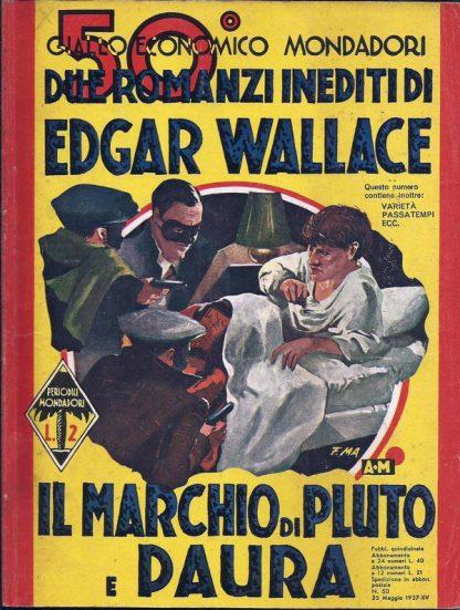 Edgar Wallace, Il Marchio Di Pluto / Paura – Giallo Itália 1937 Coleção Giallo Itália familiamuda.com.br 2