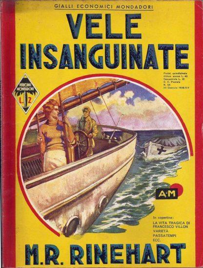 M.R. Rinehart, Vele Insanguinate – Gialli Mondadori Itália 1936 M.R. Rinehart familiamuda.com.br 2