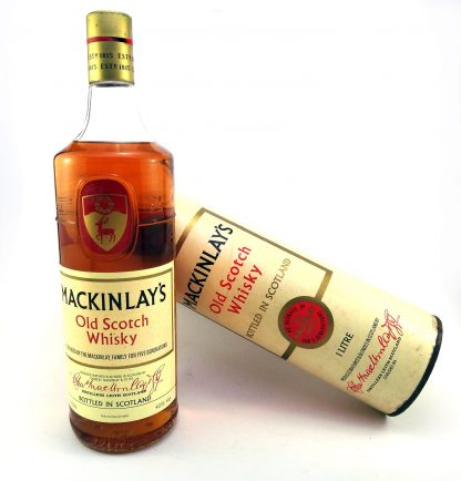 garrafa de Mackinlay's Old Scotch Whisky - Anos 70