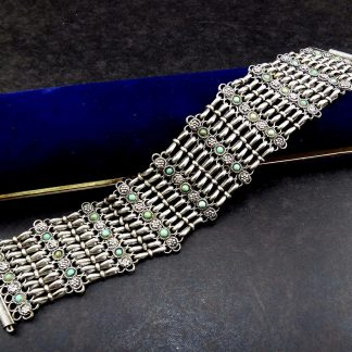 Bracelete Italiano, Prata com turquesas, anos 70