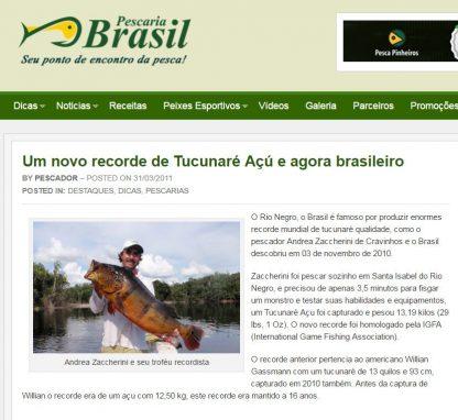 Escultura Tucunaré Açú da Amazônia em tamanho real - Recorde Mundial 13,2kg IGFA