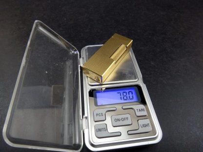 Raro Isqueiro Dunhill Rollagas folheado a ouro