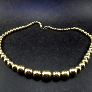 Bijoux, Colar de contas ouro, Fashion Itália anos 70
