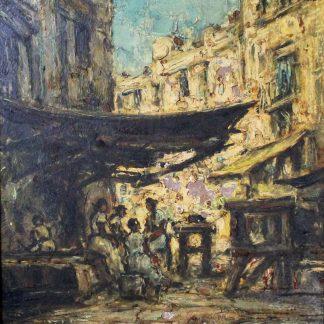 Paulo Licatti, Baianas em hora de almoço, pintura a óleo, 1971