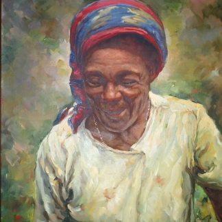 Manuel Navarro, Vieja Negra, óleo s/ tela
