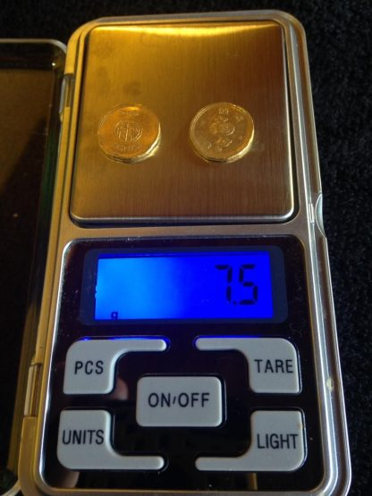 Raríssimas moedas japonesas de ouro 22K, Século XIX
