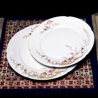 Porcelana Richard Ginori 1735 final do século XIX, jogo 8 peças