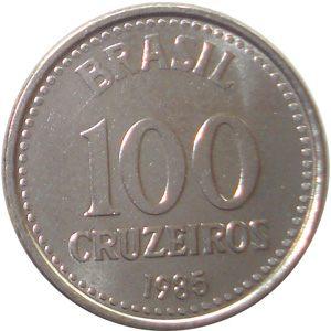Moeda de 100 Cruzeiros, MBC, 1985 a 1987