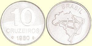 Moeda de 10 Cruzeiros, MBC, 1980 a 1987