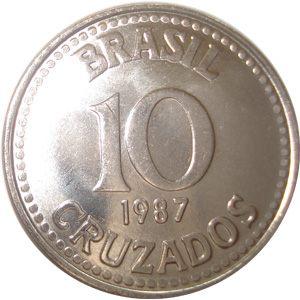 Moeda de 10 Cruzados, 1987-1990