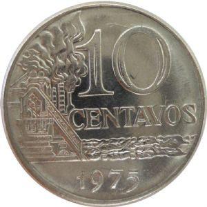 Moeda 10 centavos, 1974 MBC, Cruzeiros