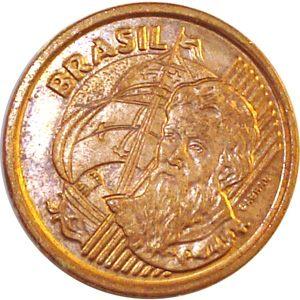 Moeda 1 centavo, 2000 MBC, centavo de Real