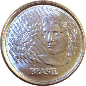 Moeda 1 centavo, 1997 MBC, centavo de Real