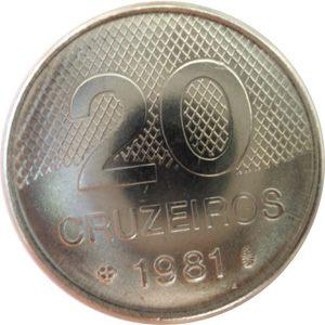 Moeda de 20 Cruzeiros, MBC-Soberba, 1980 a 1987