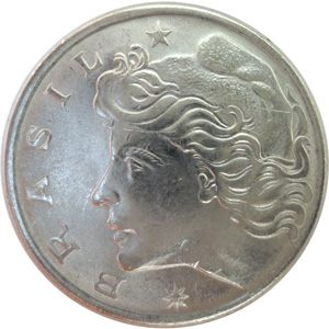 Moeda 50 centavos, 1977 MBC, Cruzeiros