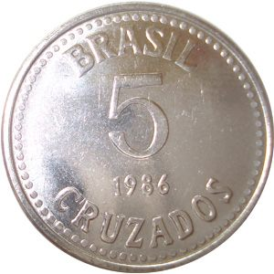 Moeda de 5 Cruzados, 1987-1990