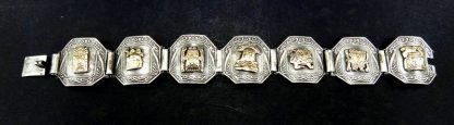 Bracelete Peruano ouro 18K e prata 925