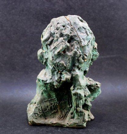 Escultura Antiga, busto em barro italiano