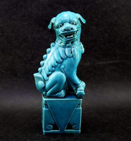 Cão de Fó em porcelana chinesa azul