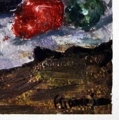 Eliane J., Abóbora e legumes, Natureza morta, pintura a óleo
