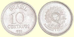 Moeda de 10 centavos de Cruzado 1986-1988
