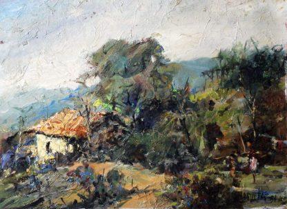 W. Maguetas, Casa na Roça, pintura a óleo
