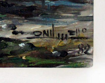 Onil Mello, Barco de Pesca, Marina, pintura a óleo