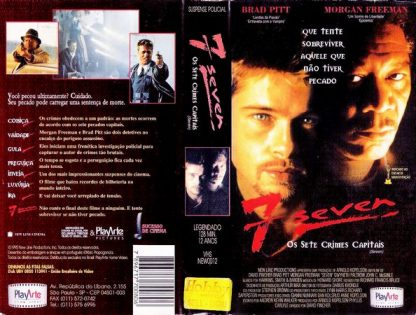 Seven: Os Sete Crimes Capitais, VHS original, Morgan Freeman, Brad Pitt