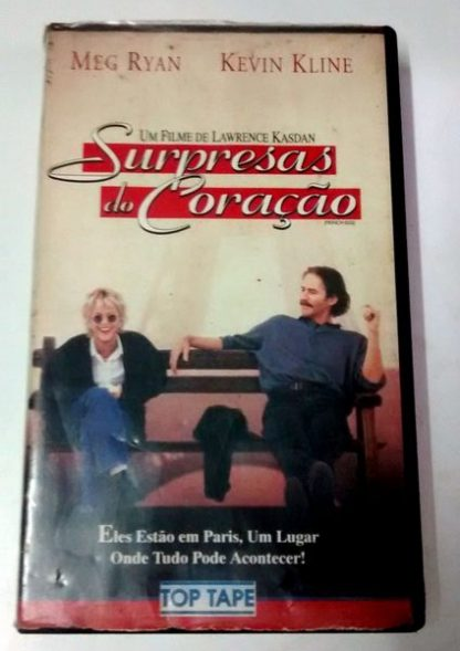 Surpresas do Coração, VHS original, Meg Ryan, Kevin Kline, Timothy Hutton