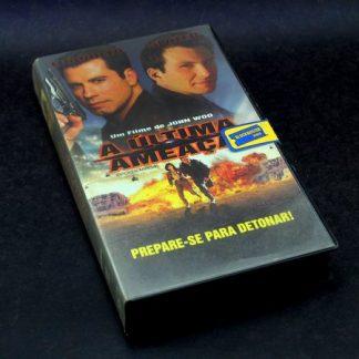A Última Ameaça, VHS original, John Travolta, Christian Slater, Delroy Lindo A Última Ameaça familiamuda.com.br