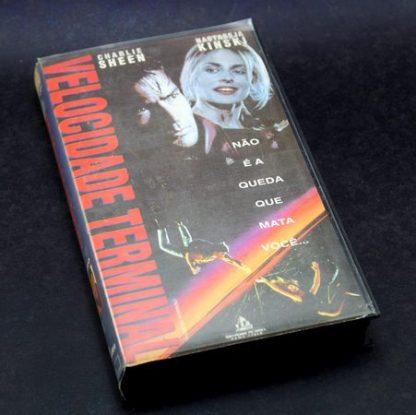 Velocidade Terminal, VHS original, Charlie Sheen, Nastassja Kinski